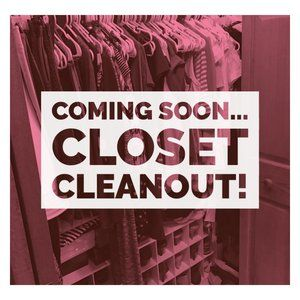 Coming Soon... Closet Cleanout for Women!